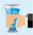 glass water vector image