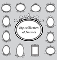 vintage frame templates vector image vector image