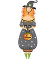 halloween girl costume vector image vector image