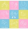 Set of baby born drawings Sketches Hand-drawing vector image