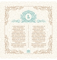 Calligraphic border frame Design template for vector image