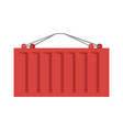 cargo container red isolated iso-container metal vector image
