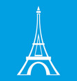eiffel tower icon white vector image