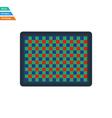 Flat design icon of photo camera sensorFlat design vector image