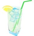 Fresh Lemonade drink ice fresh vector image