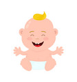 happy cute laughing smiling baby vector image