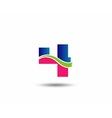 Logo number 4 design template vector image