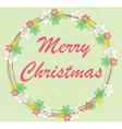 Merry Christmas Card Wreath vector image