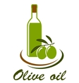 olive oil icon vector image vector image