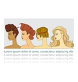 women with hairstyles vector image vector image