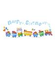 Happy birthday train vector image