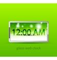 glossy electronic clock web box vector image