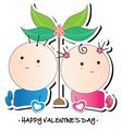 kids valentines card vector image
