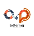 Letter logo business icon vector image