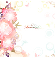 Abstract summer floral background vector image