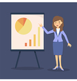 Blue Businesswoman Presentation Chart vector image