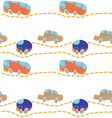 car road seamless texture vector image