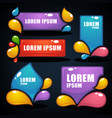 collection of bright labels bubbles tags vector image