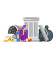 flat style of trash Spoiled food vector image