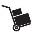 handcart icon on white background flat style vector image
