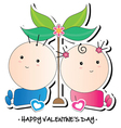 kids valentines card vector image