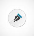 pen icon 2 colored vector image