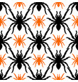 seamless pattern with tarantula vector image