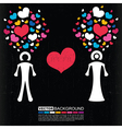 valentines day card with couple of man and woman vector image