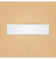 White paper label vector image