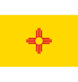 New Mexican state flag vector image