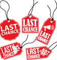 Limited chance red tag set vector image vector image
