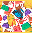 Hand bag seamless pattern vector image
