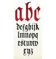 Gothic font alphabet vector image