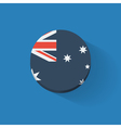 Round icon with flag of Australia vector image