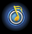 music symbol with button vector image vector image