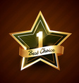 no 1 best choice golden label badge vector image