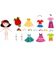 Girl Dress Up Clothes vector image vector image