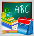 school accessories vector image vector image
