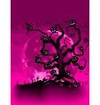 Halloween Tree with Bats vector image vector image