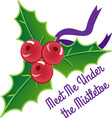 Under The Mistletoe vector image