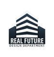 building logo design department modern buildings vector image