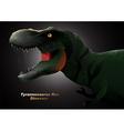 Dinosaur Tyrannosaurus head vector image