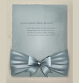 Holiday background with gift bow and ribbon on old vector image