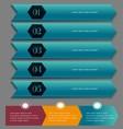 - Infographic design on dark pape vector image