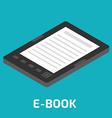 E-Book isometric vector image