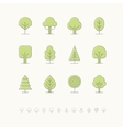 Tree icons set 2 vector image vector image