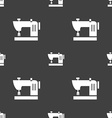 Sewing machine icon sign Seamless pattern on a vector image