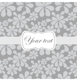 Cute vintage card invitation vector image