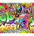 Graffiti wall vector image vector image