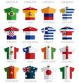 soccer shirts vector image vector image